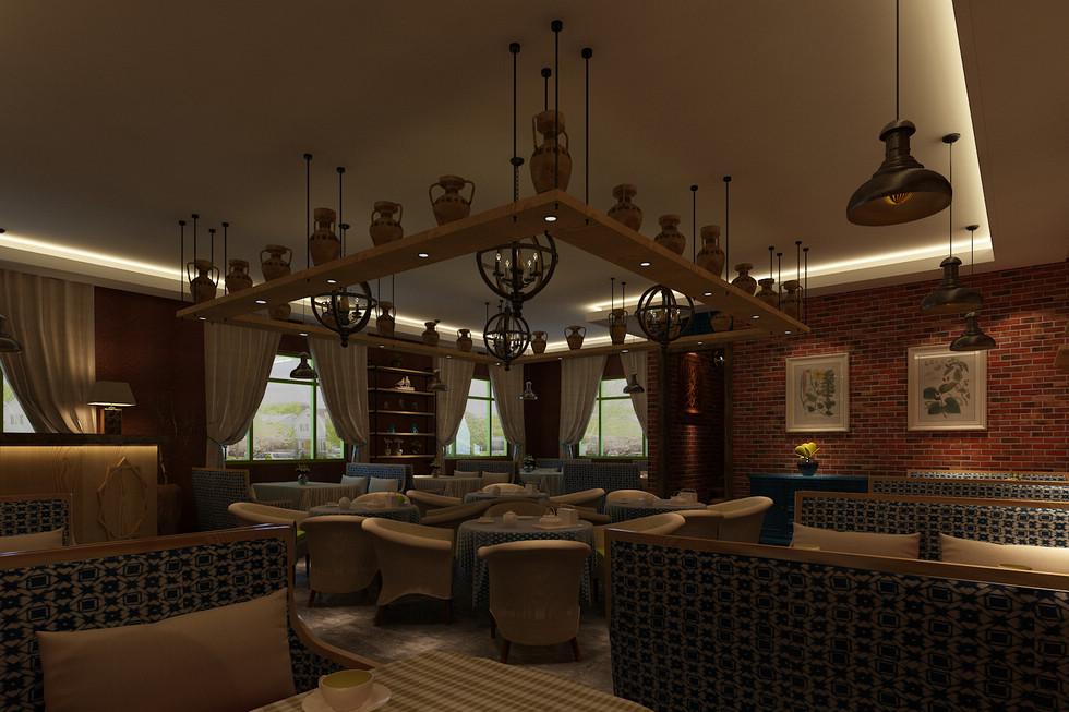 是一个新疆特色的主题咖啡馆,小空间的设计对于空间的布局和功能区域